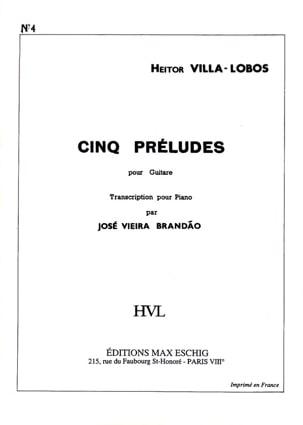 Prélude N° 4 Heitor Villa-Lobos Partition Piano - laflutedepan
