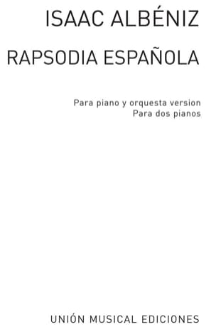 Rhapsodie Espagnole Opus 70. 2 Pianos ALBENIZ Partition laflutedepan