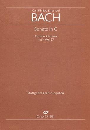 Carl-Philipp Emanuel Bach - Sonate En Ut D'après Wq 87. 2 Pianos - Partition - di-arezzo.fr