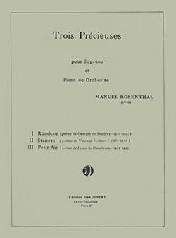 3 Précieuses - Manuel Rosenthal - Partition - laflutedepan.com