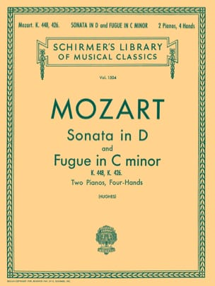 MOZART - Sonate En Ré Majeur et Fugue K 448 & 426. 2 Pianos - Partition - di-arezzo.fr