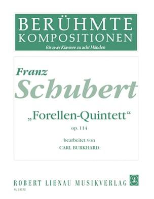 SCHUBERT - Forellen-Quintett Opus 114. 2 Pianos 8 hands - Sheet Music - di-arezzo.co.uk
