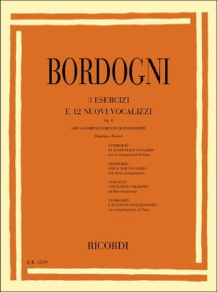 Giovanni Marco Bordogni - 3 Exercises and 12 New Opus Vocalises 8 - Sheet Music - di-arezzo.com