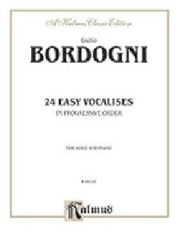 Giovanni Marco Bordogni - 24 Vocalises Faciles Et Progressives - Partition - di-arezzo.fr