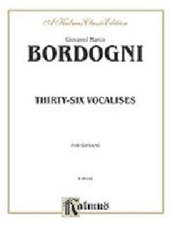 Giovanni Marco Bordogni - 36 Vocalises. Soprano - Sheet Music - di-arezzo.com