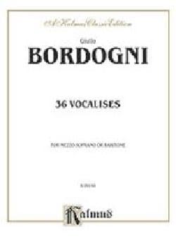 Giovanni Marco Bordogni - 36 Mezzo or Baritone Vocalises - Sheet Music - di-arezzo.com