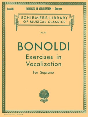 Bonoldi - Exercises In Vocalization. Soprano - Sheet Music - di-arezzo.com