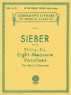 Ferdinand Sieber - 36 Vocalises Of 8 Measures. Op 96 - Sheet Music - di-arezzo.co.uk