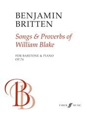 Songs And Proverbs Of William Blake Opus 74 BRITTEN laflutedepan