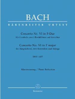 Concerto En Fa Majeur BWV 1057 BACH Partition Piano - laflutedepan
