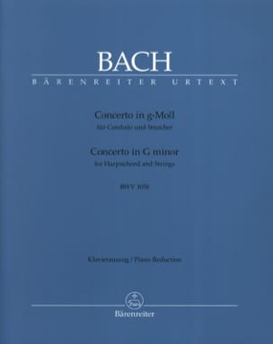 BACH - Solo Keyboard Concerto Bwv 1058 - Partition - di-arezzo.co.uk