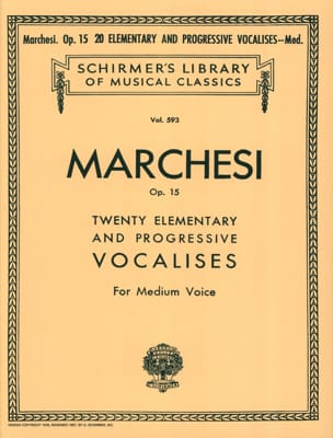 Salvatore Marchesi - 20 Elemental and Progressive Vocalises Opus 15. Mean Voice - Sheet Music - di-arezzo.com