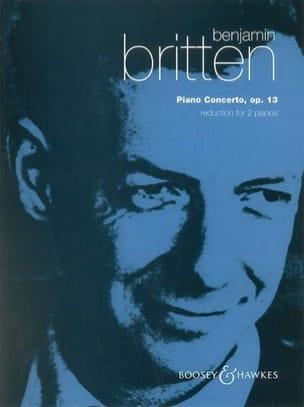 Concerto Opus 13 BRITTEN Partition Piano - laflutedepan
