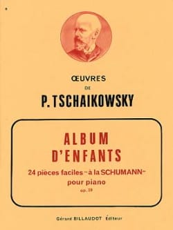 Album D'enfants Opus 39 TCHAIKOWSKY Partition Piano - laflutedepan