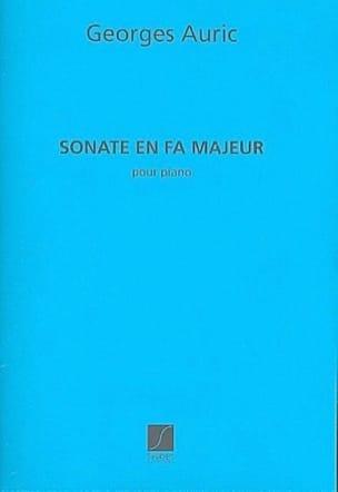 Sonate En Fa Majeur Georges Auric Partition Piano - laflutedepan