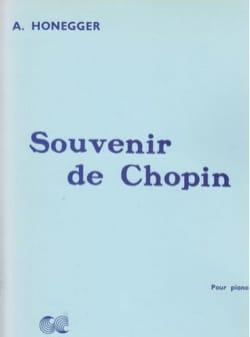Souvenir De Chopin HONEGGER Partition Piano - laflutedepan