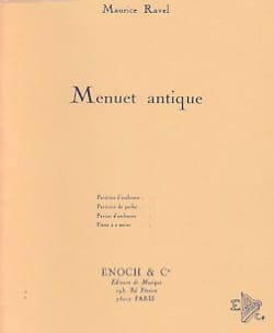 Menuet Antique RAVEL Partition Piano - laflutedepan