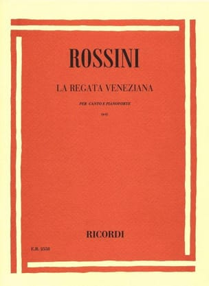 Gioachino Rossini - The Regata Veneziana - Sheet Music - di-arezzo.com