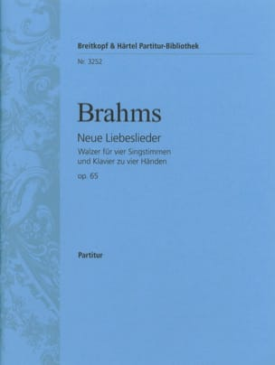 BRAHMS - Neue Liebeslieder Walzer Opus 65 - Sheet Music - di-arezzo.co.uk