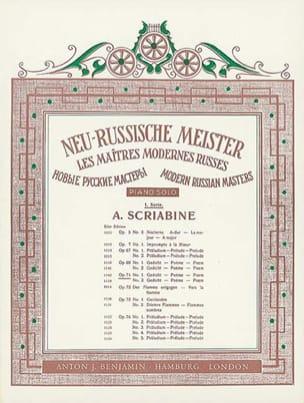 Alexander Scriabine - 2 Poems Op. 71 - Sheet Music - di-arezzo.co.uk