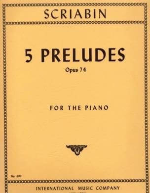 Alexander Scriabine - 5 Préludes Op. 74 - Partition - di-arezzo.fr