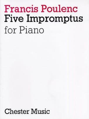 5 Impromptus POULENC Partition Piano - laflutedepan