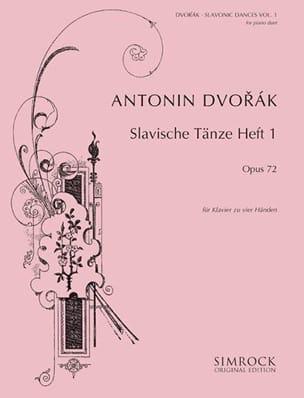 DVORAK - Slaves Dances Opus 72 Volume 1. 4 hands - Partition - di-arezzo.co.uk