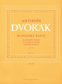 Danses Slaves Opus 72. 4 Mains DVORAK Partition Piano - laflutedepan