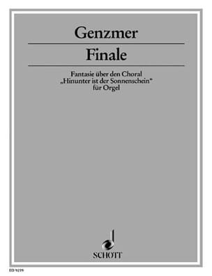 Finale - Harald Genzmer - Partition - Orgue - laflutedepan.com