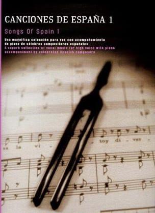 - Canciones de España Volume 1 - Partition - di-arezzo.fr