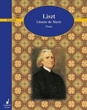 Litanie De Marie - Franz Liszt - Partition - Piano - laflutedepan.com