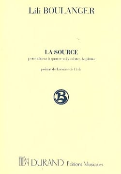 Lili Boulanger - La Source - Partition - di-arezzo.fr