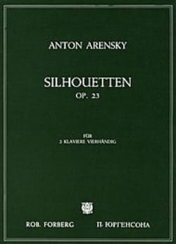 Anton Arensky - Silhouettes Opus 23. 2 Pianos - Sheet Music - di-arezzo.co.uk