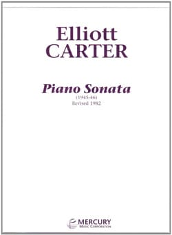 Piano Sonata Elliott Carter Partition Piano - laflutedepan