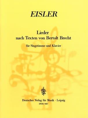 Hanns Eisler - Lieder D'après des Textes De Bertolt Brecht - Partition - di-arezzo.fr