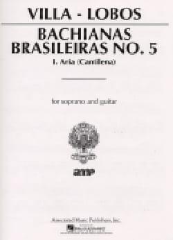 Heitor Villa-Lobos - Bachianas Brasileiras N° 5-1 - Partition - di-arezzo.fr