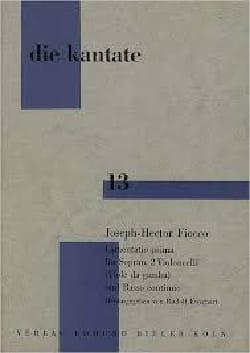 Joseph-Hector Fiocco - Lamentatio Prima - Partition - di-arezzo.fr