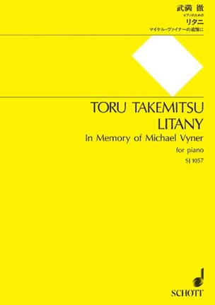 Toru Takemitsu - litania - Partitura - di-arezzo.it