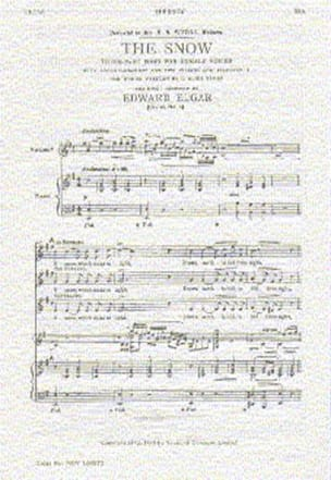 ELGAR - The Snow op. 26-1 - Partition - di-arezzo.fr