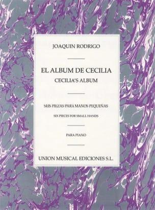 Joaquin Rodrigo - El Album De Cecilia - Partition - di-arezzo.fr