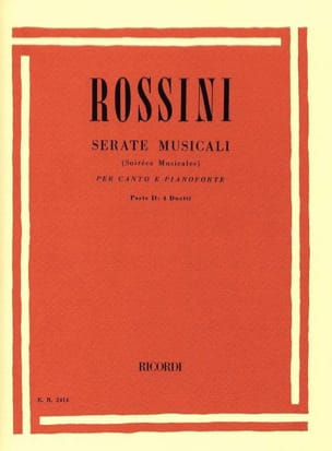 Serate Musicali Volume 2 ROSSINI Partition Duos - laflutedepan