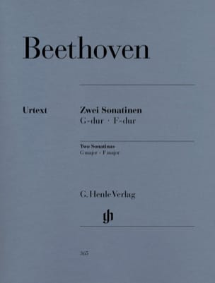 BEETHOVEN - 2 Piano Sonatins In F Major And G Major - Partition - di-arezzo.co.uk