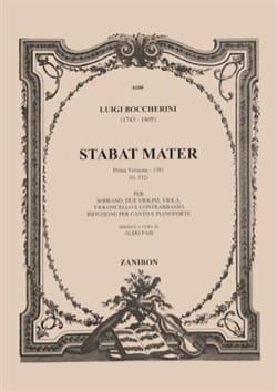 Luigi Boccherini - Stabat Mater. 1ère Version 1781 - Partition - di-arezzo.fr