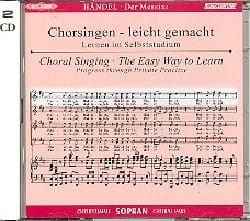 Messiah. CD Soprano CHOEUR HAENDEL Partition Chœur - laflutedepan