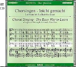 Messiah. CD Basse HAENDEL Partition Chœur - laflutedepan