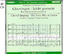 Oratorio de Noël 2 CD. Basse CHOEUR BACH Partition laflutedepan