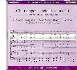 SCHUBERT - Mass In G Major D 167. CD Alto CHOIR - Sheet Music - di-arezzo.com