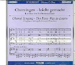 Messe En Sol Majeur D 167. CD Ténor - laflutedepan.com