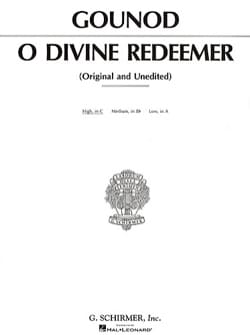 O Divine Redeemer. Voix Haute GOUNOD Partition Mélodies - laflutedepan