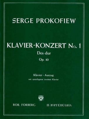 Sergei Prokofiev - Piano Concerto No. 1 Opus 10 - Sheet Music - di-arezzo.co.uk
